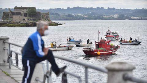 La protesta en A Coruña