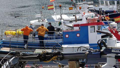 Otra escena de la protesta en el puerto de Vigo
