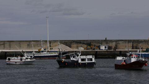 Pesqueros de Viveiro y Celeiro, en la protesta en la dársena celeirense