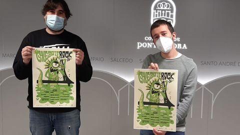 Presentación do Galegote Rock, a cargo de Marcos Rivas e Alberto Oubiña