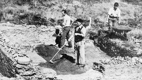 Primeras excavaciones en el castro de Viladonga, realizadas en 1971