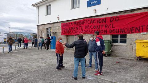 La protesta en la cofradía de Corme