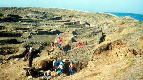 Excavaciones de los años ochenta, una década que destaca por la inauguración del museo
