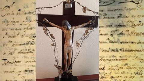 Imagen del Cristo de la Colada, que salió de Monforte en el siglo XIX y que ahora se custodia en Sevilla