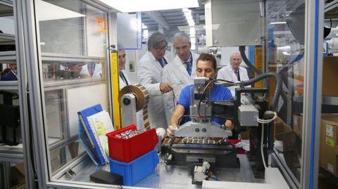 Foto de archivo de Aludec, en O Campiño, con motivo de la visita del entonces conselleiro de Industria