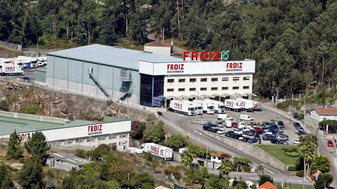 Las instalaciones de Froiz en Lourido (Poio), donde la empresa tiene su gran punto de referencia