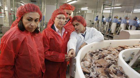 Foto de archivo, con motivo de una visita institucional, a las instalaciones de Cabomar, en Marín