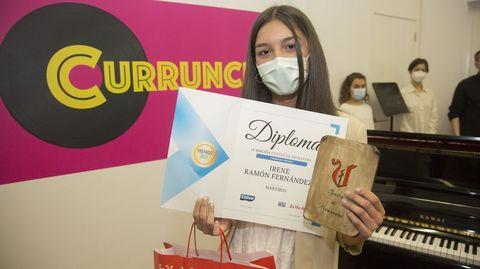 Irene Ramón Fernández, primeiro premio deste 2021 polo seu texto Martirio