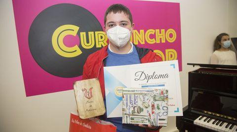 Segundo premio: Jesús Manuel Rey, alumno do IES Monte Neme de Carballo