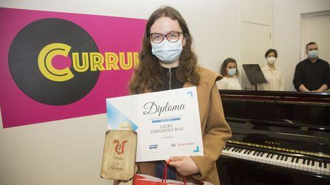 Cuarto premio: Laura Fernández Rial, do CPI Alcalde Xosé Pichel (Coristanco)