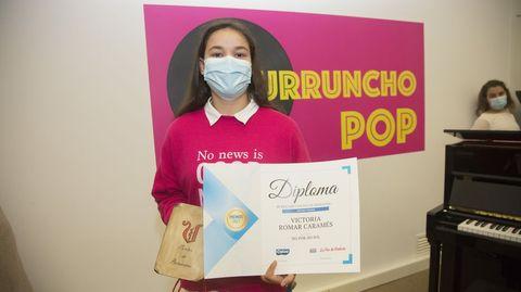 Séptimo premio: Victoria Romar Caramés, alumna del Manuela Rial Mouzo