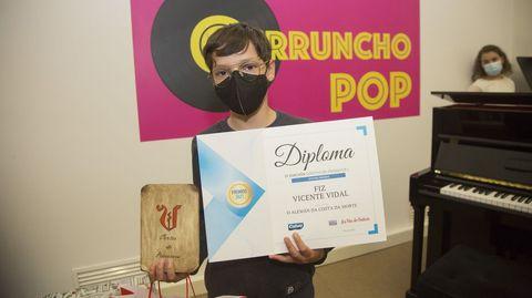 Octavo premio: Fiz Vicente Vidal, alumno de la EFA Fonteboa de Coristanco