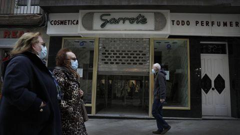 Cierre de Garrote en la calle Real de A Coruña