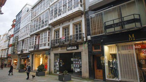 Antiguo comercio Melias en la calle Real de Ferrol