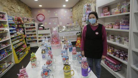 Tania Alján, empleada de la tienda de golosinas Parada Dulce