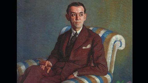 Fragmento del retrato de Ramón Pérez de Ayala, por Ignacio Zuloaga