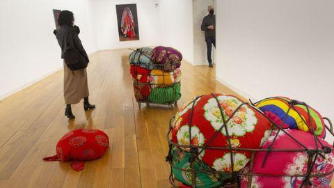 Detalle da exposición de Pauline Oliveros no CGAC