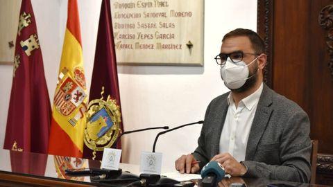 El alcalde de Lorca Diego Mateos