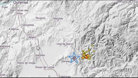 Terremoto de este martes en Sarreaus y los resgistrados en los últimos días en Laza