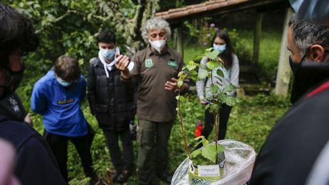 El alumnado de Maristas aprende a reforestar en Palmés