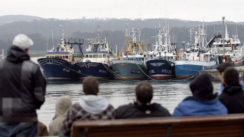Imagen de archivo de pesqueros atracados en el puerto de Celeiro (Viveiro), en A Mariña lucense