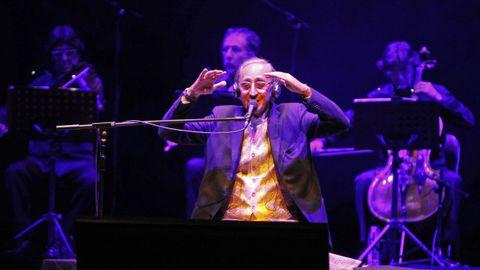 Battiato, en un concierto en Vigo en el 2015; dos años después actuó en A Coruña, en su última presencia en Galicia