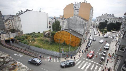 Esquina de San Roque con Ronda da Muralla que será cambiada