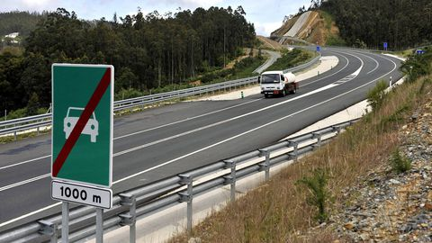 La variante de Ortigueira, inaugurada en 2013, es el único tramo de la VAP Costa Norte ejecutado en la provincia de A Coruña