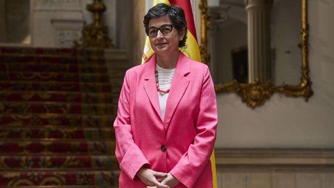 La ministra de Exteriores, Arancha González Laya, este miércoles, en el palacio de Viana