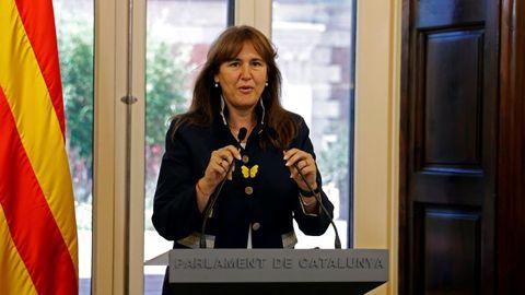 La presidenta del Parlamento catalán, Laura Borràs, en una imagen de archivo