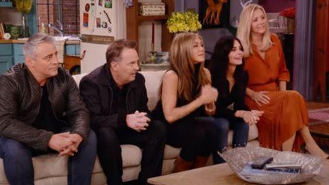 Escena del programa especial de la reunión de los protagonistas de «Friends»