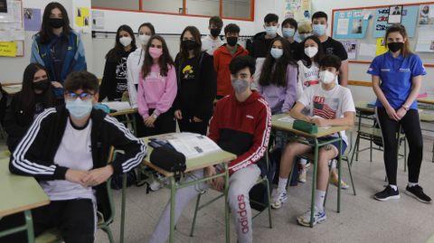Alumnos del IES Blanco Amor de Ourense que participaron en la prueba piloto