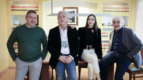 De izquierda a derecha: Óscar, José Manuel, María y Francisco Javier, abogados del despacho Núñez-Torrón