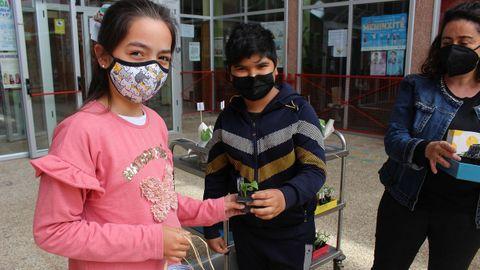 Los alumnos recibieron sus plantas