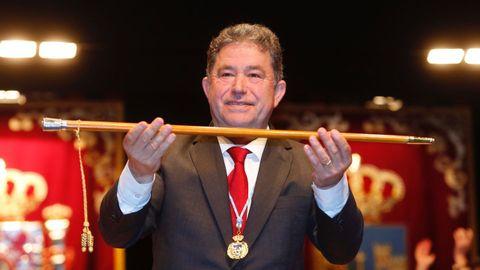 Miguel Anxo Fernández Lores, (BNG), en su sexta proclamación como alcalde en junio del 2019