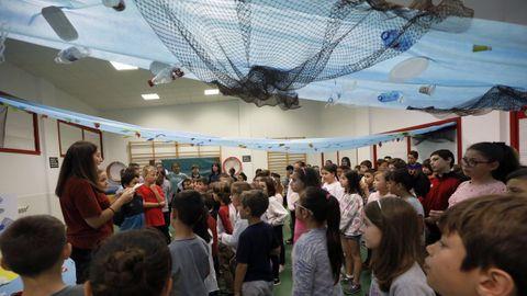 Imagen de archivo de una actividad en el colegio público de Celeiro, en Viveiro