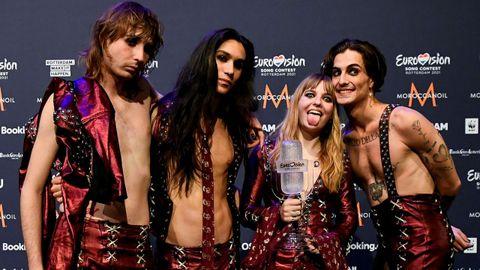 El triunfo de Italia en Eurovisión, en fotos