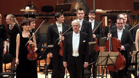 Cristobal Halffter, en un concierto en Santiago en el año 2010