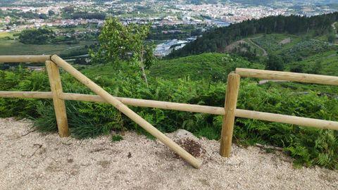 Actos vandálicos registrados en el parque forestal de A Tomba, en Pontevedra