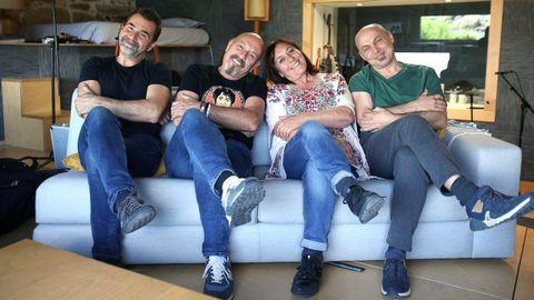 Los cuatro músicos que han participado en la grabación del disco