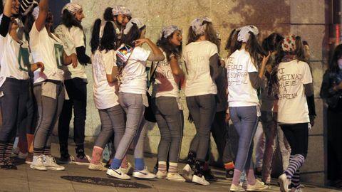 Novatadas, en una imagen de archivo, en Santiago