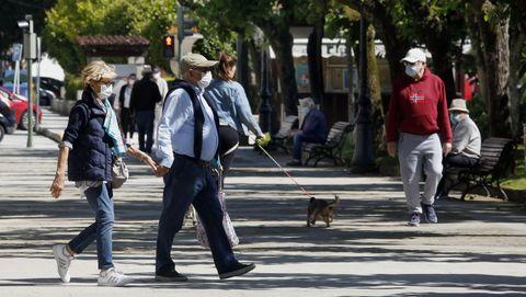 Imagen de los jardines de A Pobra, concello en el que se detectaron 44 positivos en las últimas dos semanas