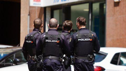 Imagen de archivo de una intervención de la Policía Nacional en Vigo