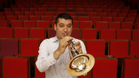 El trompetista Pacho Flores
