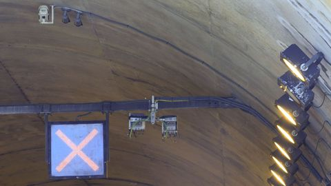 En el exterior, arriba del túnel, y en el interior se instalaron antenas de 5G