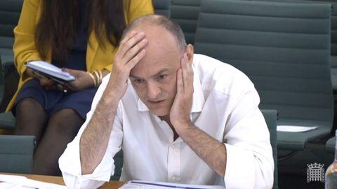 Dominic Cummings, durante la comparecencia en el Parlamento