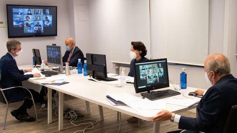 El Patronato de la Fundación Princesa de Asturias ha celebrado hoy por videoconferencia la reunión anual a la que han asistido Luis Fernández-Vega, Teresa Sanjurjo, Mauro Guillén y Gustavo González