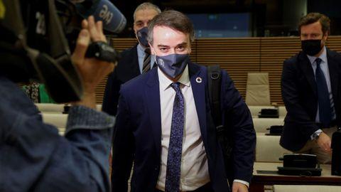 El exdirector del Gabinete del Presidente del Gobierno, Iván Redondo,  antes de presentar el Informe Anual de Seguridad Nacional 2020 en el Congreso.