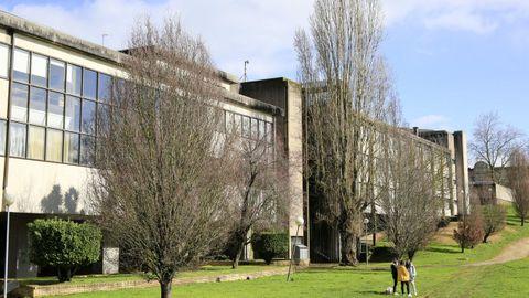 Exterior del edificio de la Facultade de Veterinaria, en el campus de Lugo