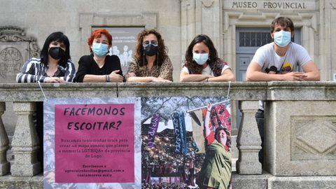 Presentación diante do Museo Provincial de Lugo da campaña de recollida de testemuñas